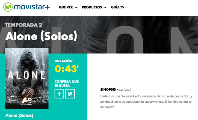 Alone (Solos) Movistar Plus